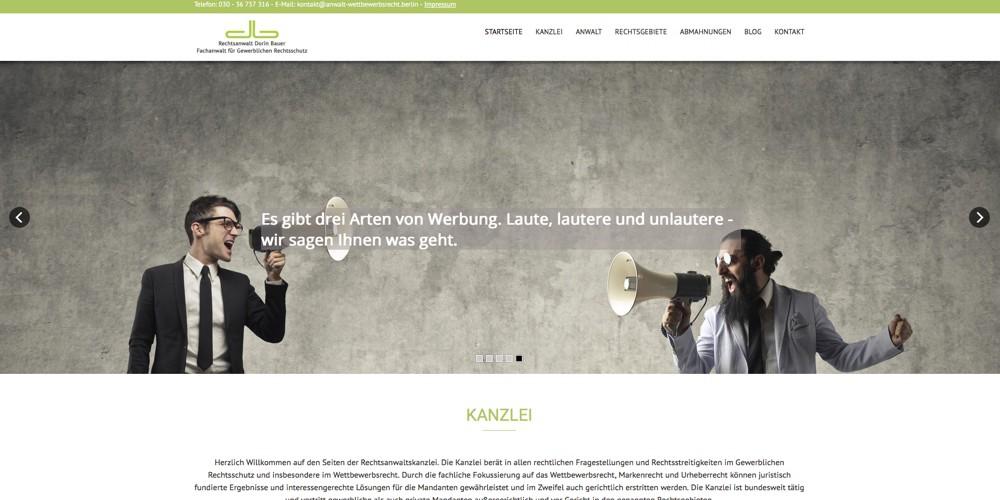 Anwalt Wettbewerbsrecht Berlin Webseite