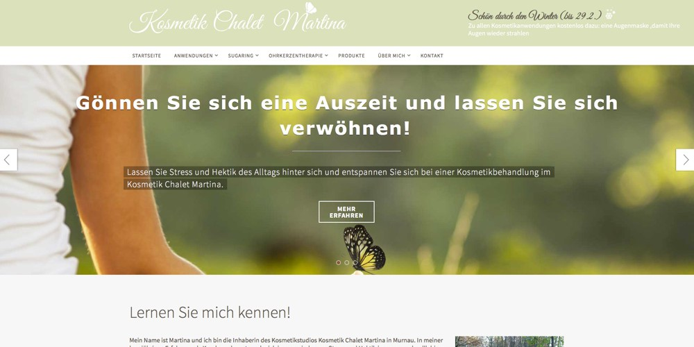 Kosmetik Studio Murnau Webseite