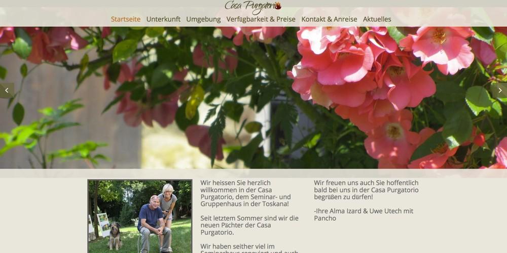 Seminarhaus Casa Purgatorio Webseite